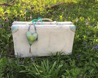 OOAK Vintage Suitcase Steamer Trunk