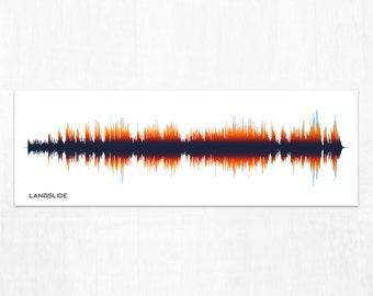 Landslide - Rock Band Music Sound Wave Art Print