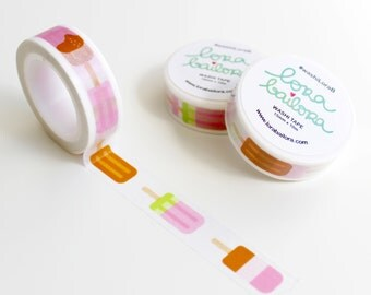 Washi tape POPSICLES 15mm x 10m