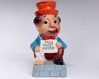 Funny Stock Market Investor Piggy Bank - Japan