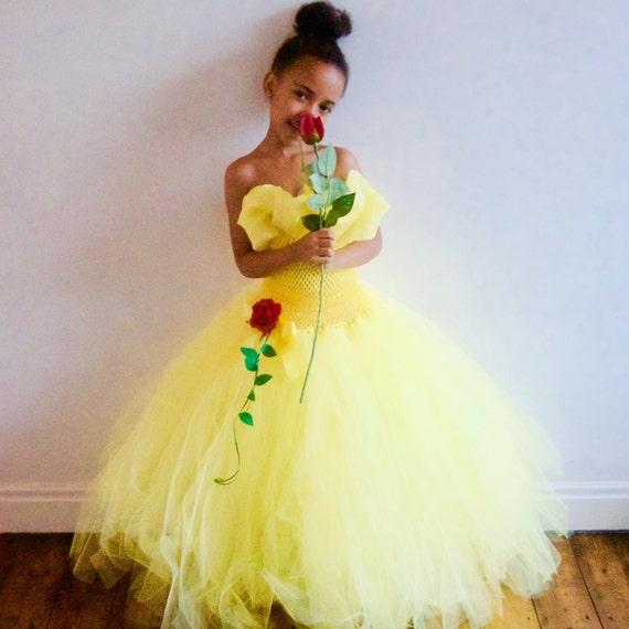 Disney Belle Wedding Dress: Disney Belle Beauty & The Beast Inspired Dress With Hand-made