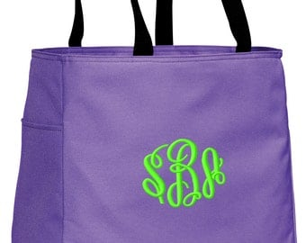 Personalized Tote Bag Embroidered Tote Bag Custom Tote Bag - Sports - Monogrammed - B0750