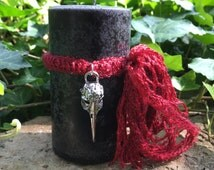 Queen of Battle™ Candle. Morrigan, Defensive Magick, Protection, Banish Malicious Intent, Courage in the Face of Adversity. Choose A Size