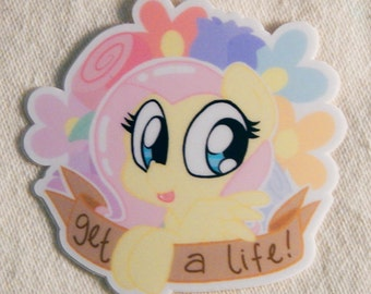 Rude Pony Sticker: Fluttershy
