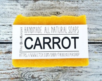 Carrot Soap, Organic Soap, Unscented Soap, Fragrance free Soap, Vegan Soap, Natural Soap, Summer Soap, Cold Process Soap, Palm Free