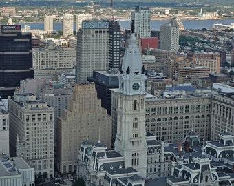 Center City Bird's View Canvas Art 30x40
