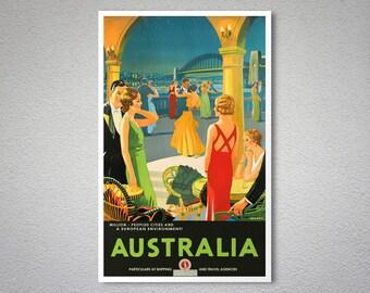 Australia Travel Poster - Poster Print, Sticker or Canvas Print