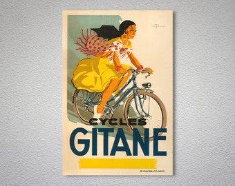 Cycles Gitane Vintage Bicycle Poster - Poster Print, Sticker or Canvas Print