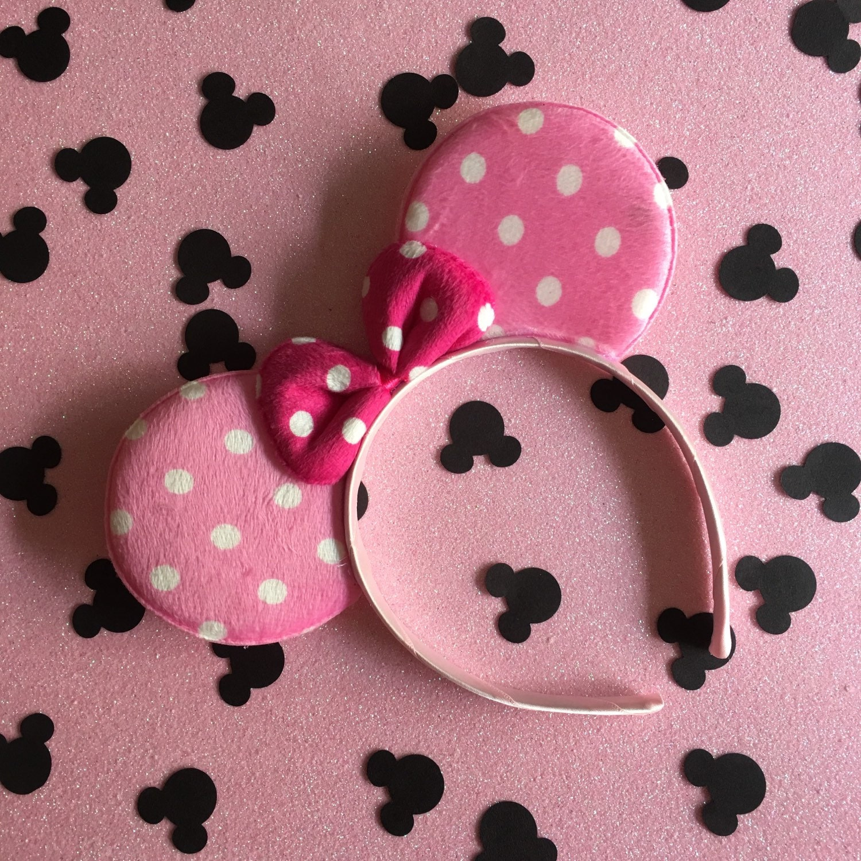 light pink mouse ears headband wedding crown butterfly tiara
