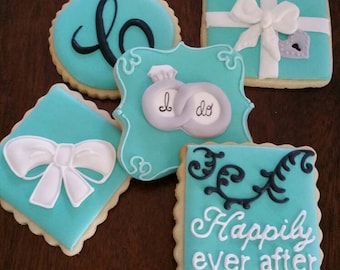 Tiffany wedding cookies