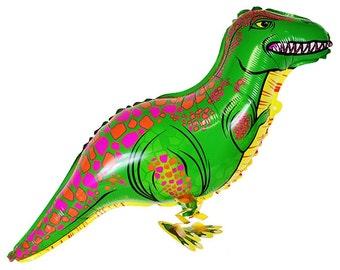 T Rex Dinosaur Walking Pet Mylar Balloon - Party Decorations & Balloons by Just Artifacts - Item SKU: FMB010019