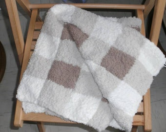 Soft square pattern blanket