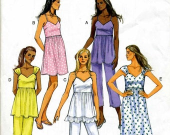 Misses Top, Pants, and  Dress Sewing Pattern - Butterick 5653  - Size 4, 6, 8, 10, 12, 14   Bust 29 1/2 - 36   - Uncut