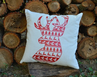 Ugly Christmas Sweater Deer Pillow Cover