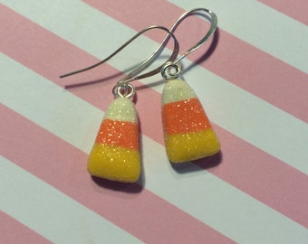 Candy Corn Earrings Halloween Costume Jewelry