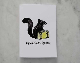 Travelling Squirrel Card with envelope