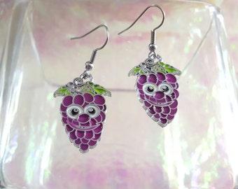 GRAPE earrings.