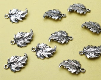 Leaf Charms Antique Silver Tone Maple Leaf Charm pendant jewelry