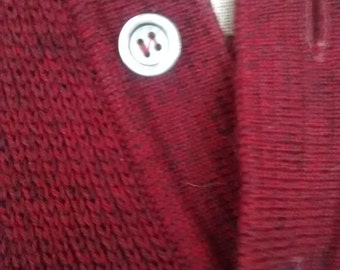 Gorgeous original 50s brick red jumper - Jacques Fath