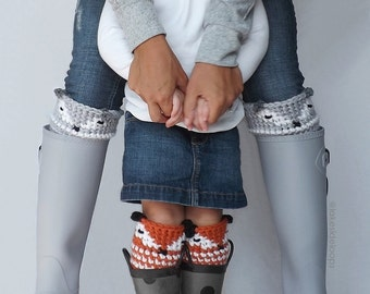 Crochet Pattern - Asher Animal/Fox Leg Warmer & Boot Cuff by Lakeside Loops (includes 5 sizes: Toddler to Adult)
