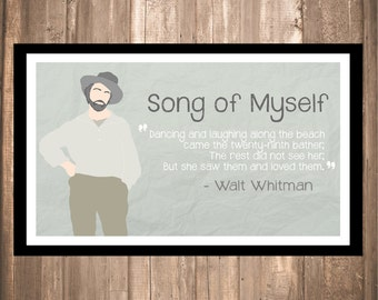 "Walt Whitman ""Song of Myself"" Print"