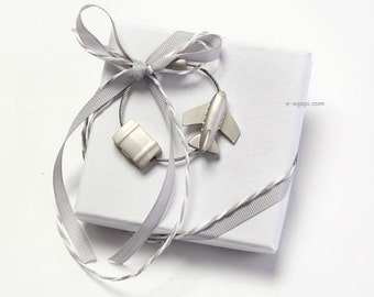 Travel wedding bombonieres matrimonio bomboniere battesimo key chain wedding favors ideas handmade wedding favors boxes grey white favors