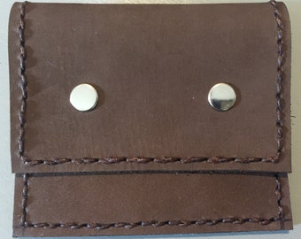Handmade Leather Rosary Pouch, Coin Purse