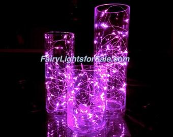 3m/9.8ft 5+ sets Pink 30 LED fairy light string strand button battery for centerpiece, wedding, costume, EDM, bachelorette, bridal shower