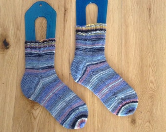 Hand knit child's socks