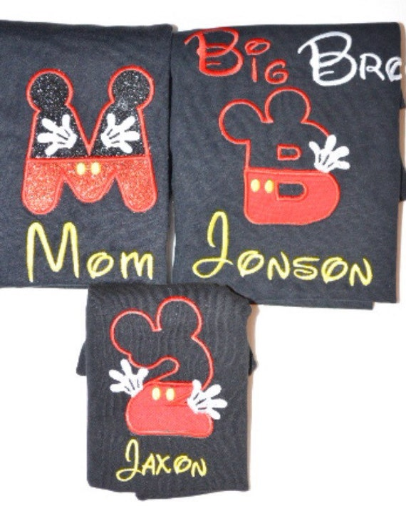 Sale Sale Embroidered Mickey Mouse Family Shirts Minnie Mouse