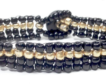 Dispatcher Thin Gold Line Bracelets,Dispatcher,Beaded Bracelet,Handwoven Bracelets,Gifts for her,Gifts for him,New Years Eve jewelry,Holiday