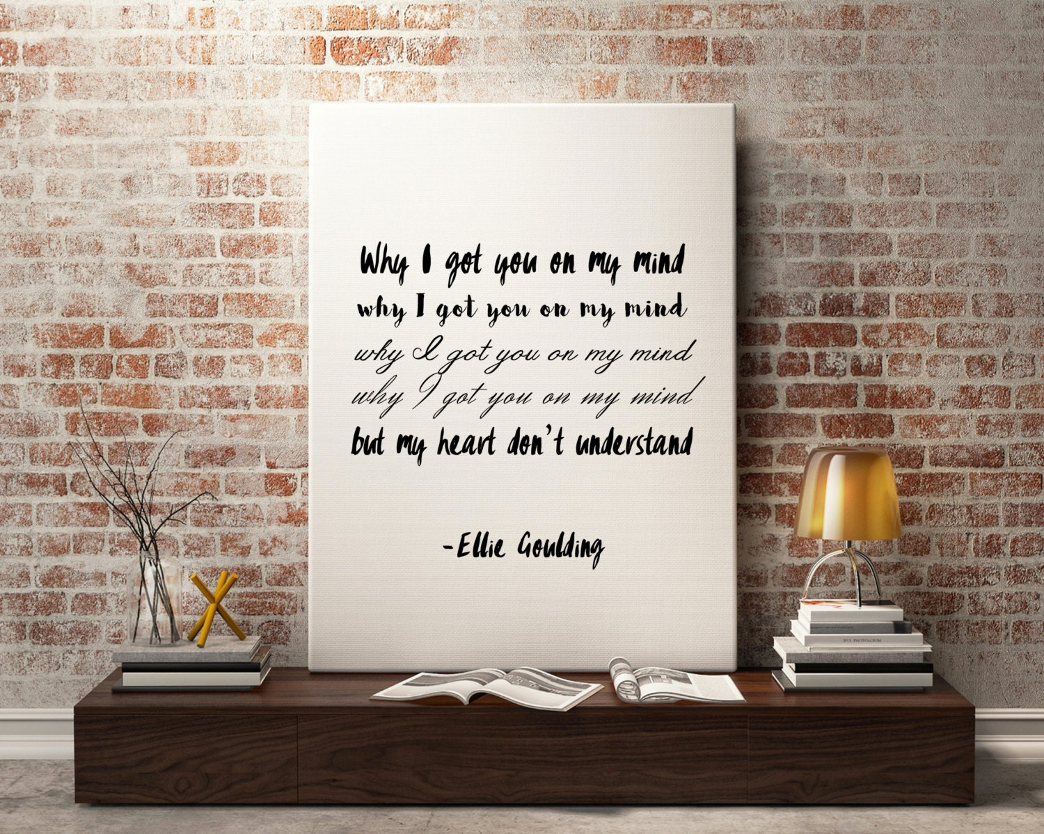 Ellie Goulding quote song quotes song lyric art wall art