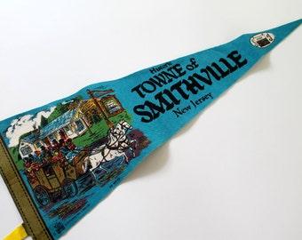 Smithville New Jersey Pennant, Souvenir State Wall Banner