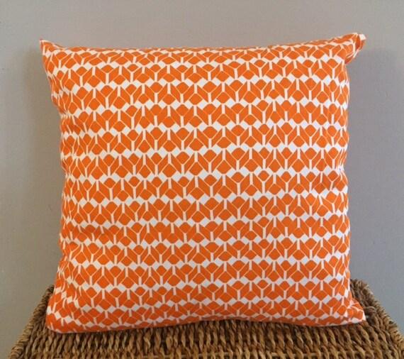 Organic Throw Pillow Inserts : Orange Organic Throw Pillow Insert Removable Cover Pillow