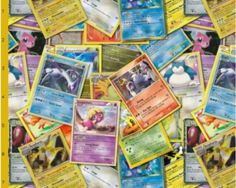 Pokemon Card Fabric