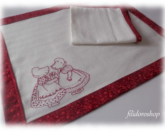 redwork table cloth