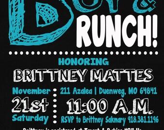 Customized Baby Boy Brunch Baby Shower Invitations
