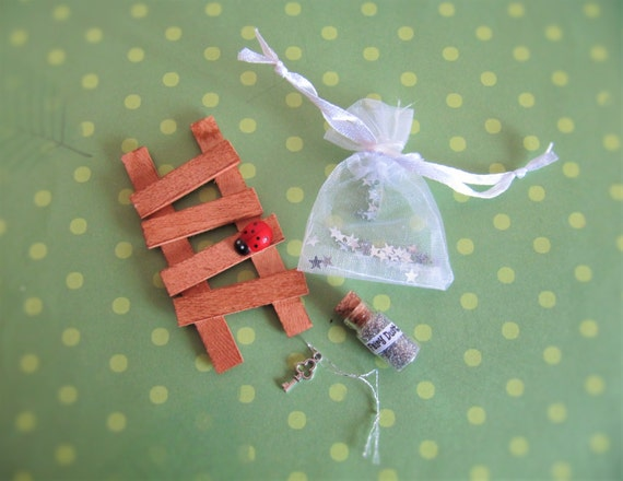 Fairy door ladder fairy key and fairy dust by for Fairy door with key