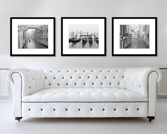 Sale venice print set black and white photography fine art for 3 by 3 prints