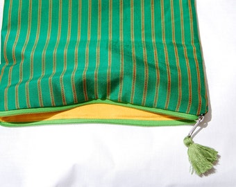 Silk pouch Green silk purse