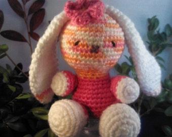 Clarissa, a sleepy amigurumi bunny