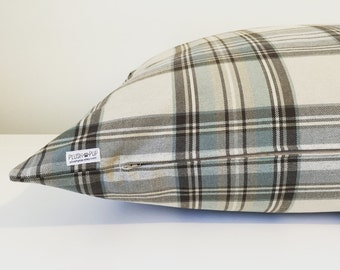 Cream dog bed cover, Checkered Dog bed cover, Cream Dog beds cover, Plaid check dog bed