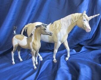 Hand-painted Custom Unicorn Family