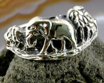 Elephant, ring, 925 sterling silver  - 4170