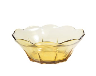 Glass Bowl Vintage Brown Scalloped Edge Glass Bowl But Bowl Candy Dish Serving Bowl Vintage Holiday Table