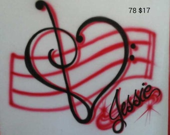 Custom Personalized Airbrush T Shirt, freehand, not a stencil, music, band, gift ideas