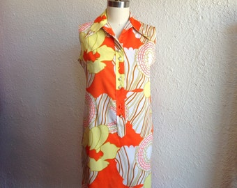 1960s Lanvin floral shift dress