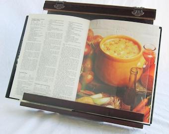 cookbook holder wooden acrylic splatter guard 4 viewing angles - Recipe Book Holder