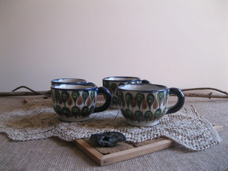 sch ne palopo guatemala kaffee tassen tee tassen set von 4. Black Bedroom Furniture Sets. Home Design Ideas