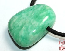 Amazonite on leather band / cotton band (necklace)